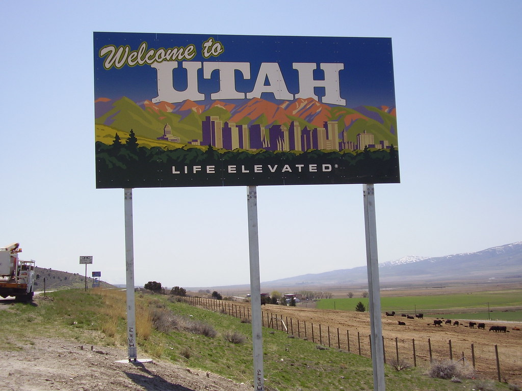 Welcome To Utah Sign On I 15 This Welcome To Utah Sign