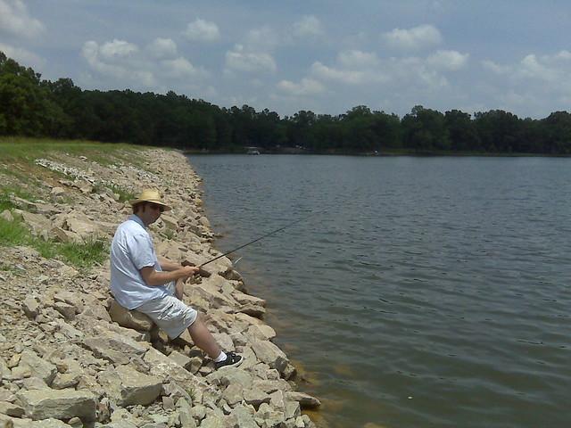 Fishing at herb parsons lake flickr photo sharing for Take me fishing lake locator
