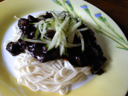 Thaory's jjajangmyeon | by maangchi
