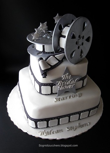Cake With Photo Reel : The Bridal shower: film reel cake This was very hard ...