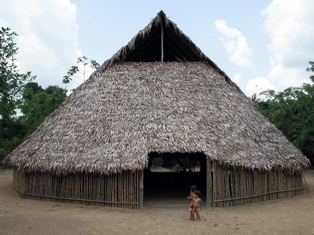 Communal Tribal Hut Meeting Hut Peru Stuart Hamilton Flickr