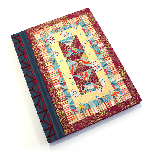 Book Cover Handmade Quilts : Quilted yuzen paper cover handmade retirement book flickr