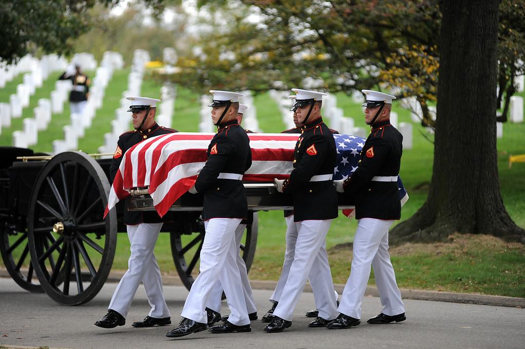 Marine Corps body bearers at Arlington | Marine Corps Body ...