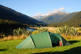 Tent at Cameron Flats, New Zealand | by travelling two