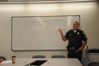 Sgt. Cowhill speaking at the library's Emergency & Disaster Training session, July 2008. | by California State University Channel Islands