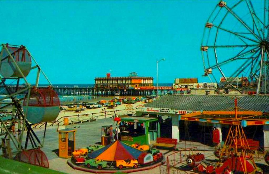 1950s Daytona Beach Amusement Park Rides Vintage Postcard Flickr