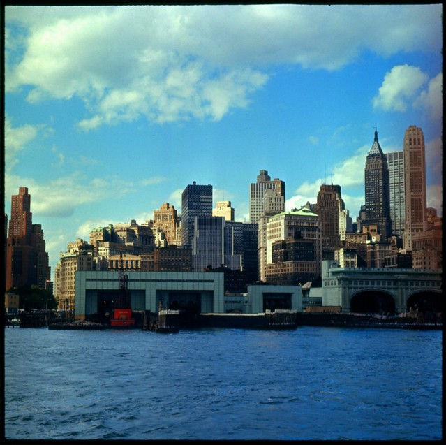 New York City Skyline 1966 Taken From The Approach To