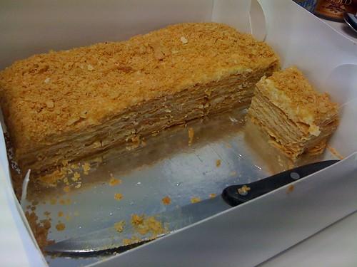 Napoleon Cake With Whipped Cream Recipe