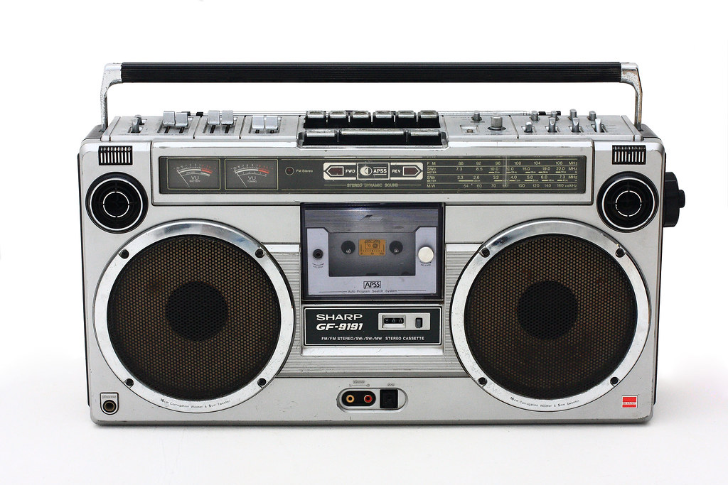 ghetto blaster this is my sharp gf 9191 boom box shot in. Black Bedroom Furniture Sets. Home Design Ideas
