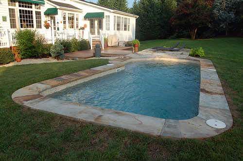 Baja 14f viking pools custom design rising sun pools for Pool design raleigh nc