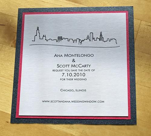 chicago skyline themed wedding stationery invitations   flickr, Wedding invitations