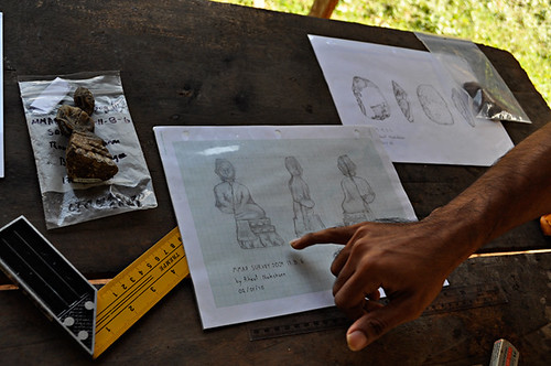 Norseng Draws the Buddha Offerings Found in Tham Kok Muh | by Penn Museum