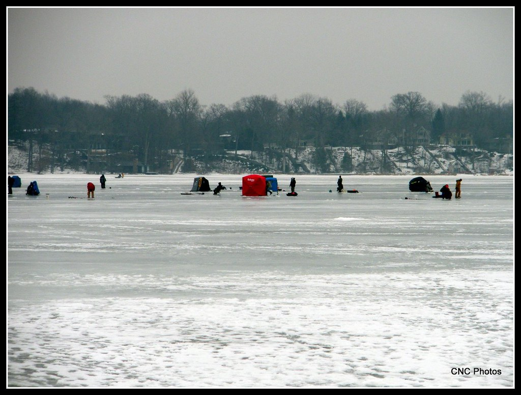 Ice fishing ice fishing on reed 39 s lake cncphotos flickr for Red lake ice fishing resorts