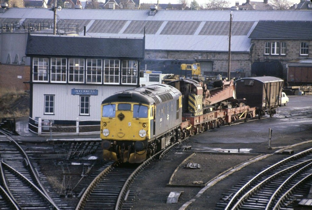 Class 26 On Inverness Shed Early 80s Interesting