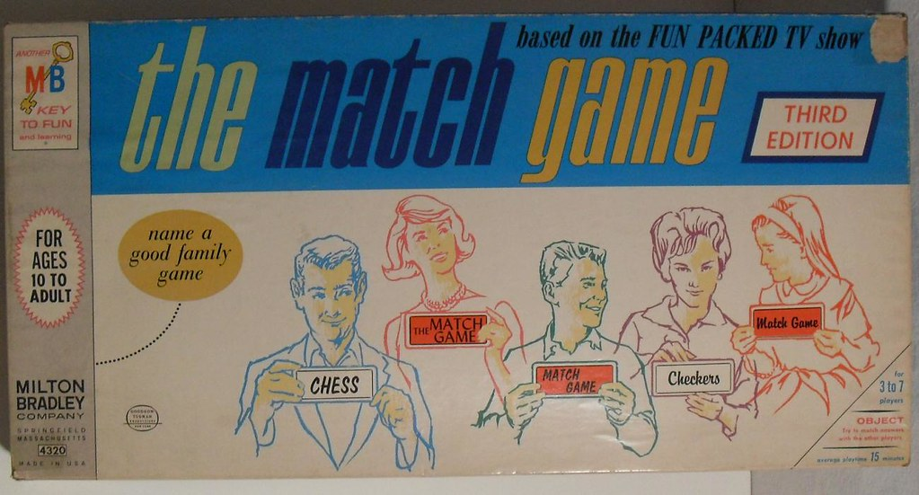 vintage top bottom match game