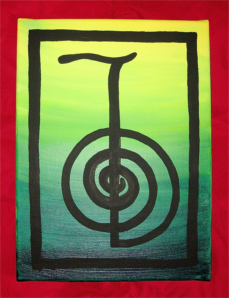 Cho Ku Rei Cho Ku Rei Reiki Symbol For Power Hand Painte Flickr