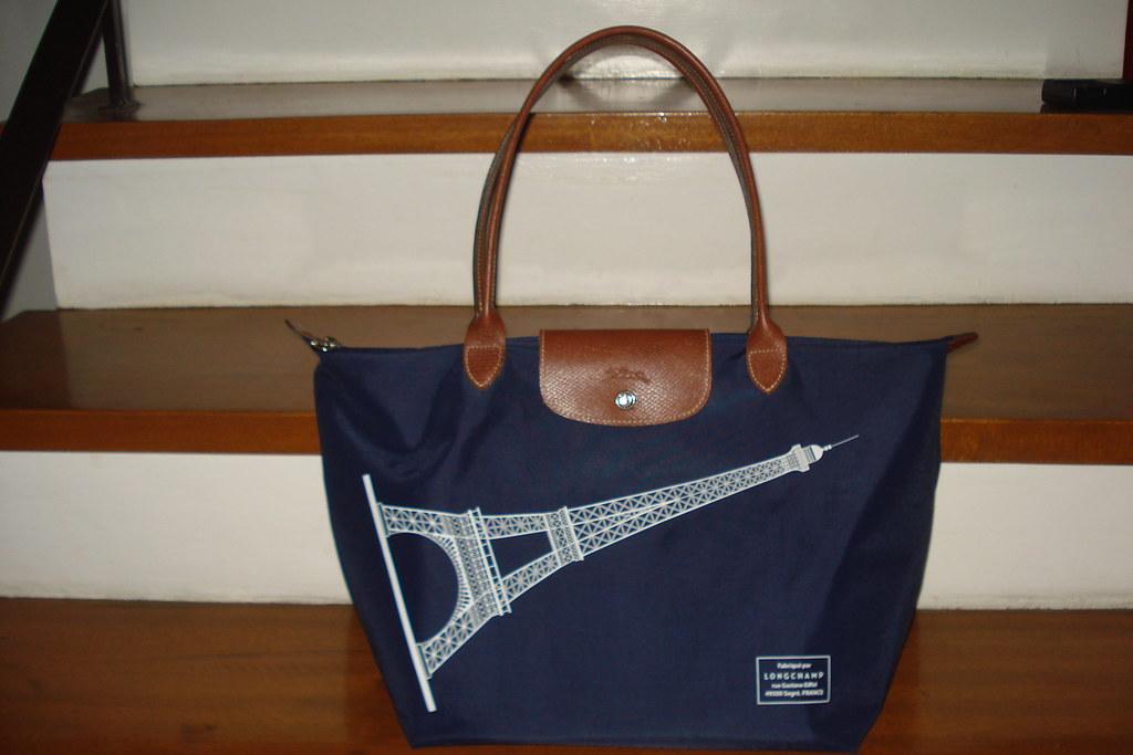Longchamp Eiffel Laukku : Longchamp le pliage eiffel tower limited edition