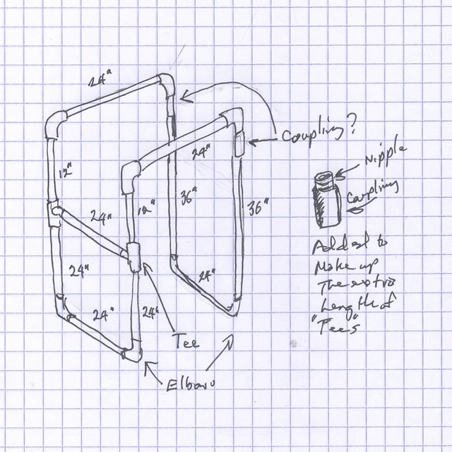 Dip station it could be made of 1 2 or 3 4 inch for Homemade pull up bar plans
