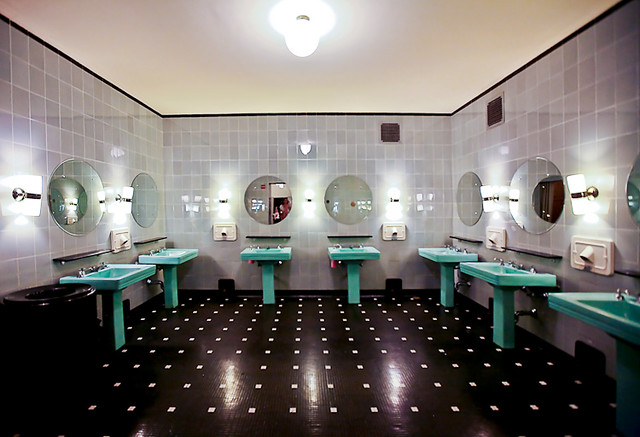 Art Deco Bathroom Radio City Music Hall Kathleen Flickr