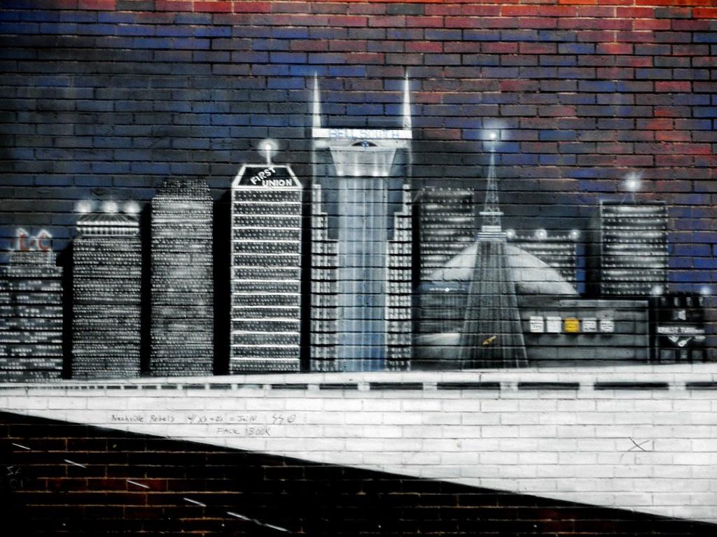 nashville skyline mural taken in nashville tn midwestwand flickr
