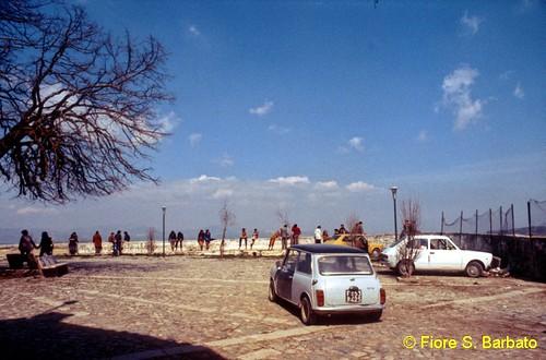 Bisaccia (AV), 1981, Piazza Convento.