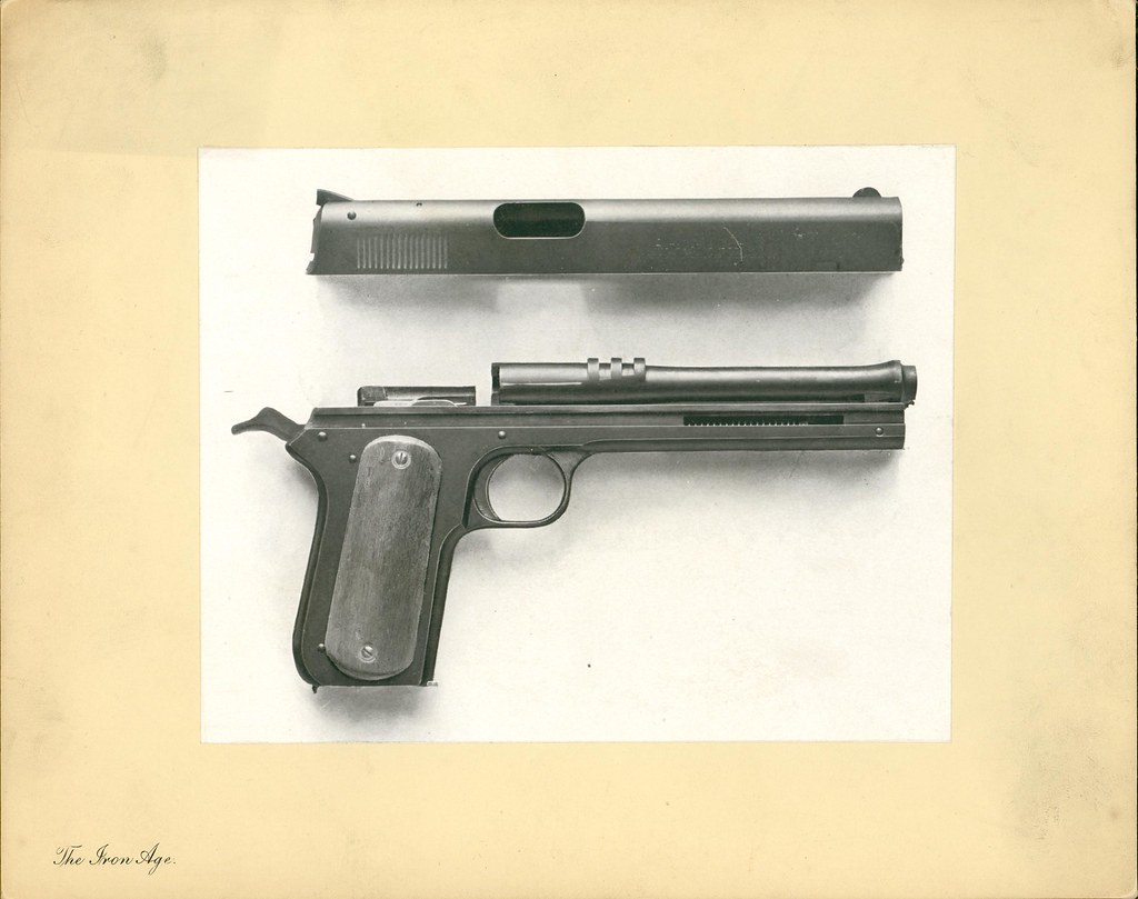 Colt Model 1900 Automatic Pistol Slide Off Description