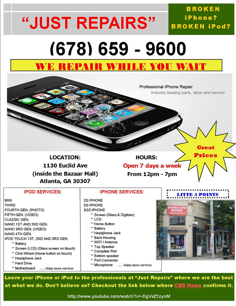 iphone repair atlanta just repairs we repair iphones and ipods while you wait in 12190