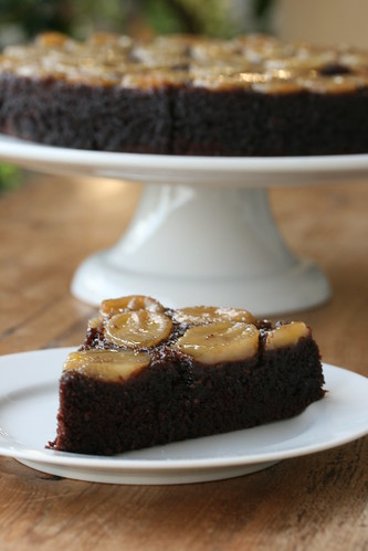 Chocolate-Caramel-Banana Upside-Down Cake | by Food Librarian