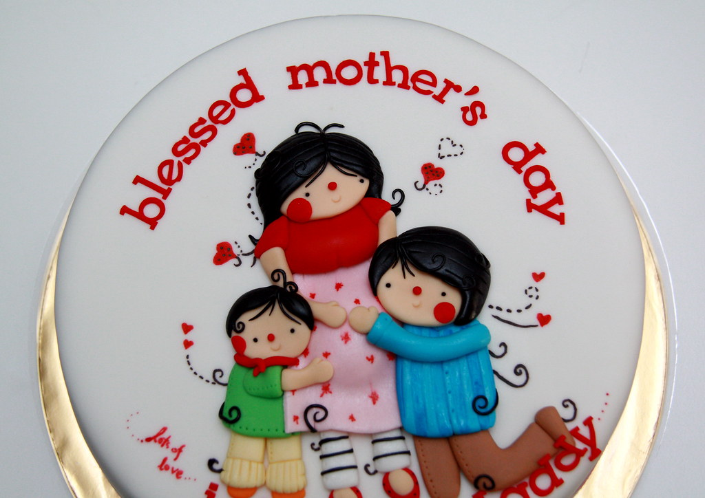 Cake Design For Mother S Birthday : mother s day artsy cake Ween Nee Flickr