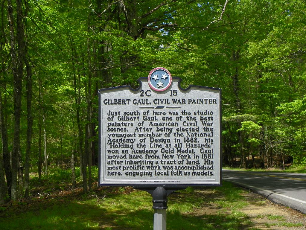Gilbert Gaul Civil War Painter Historical Marker At