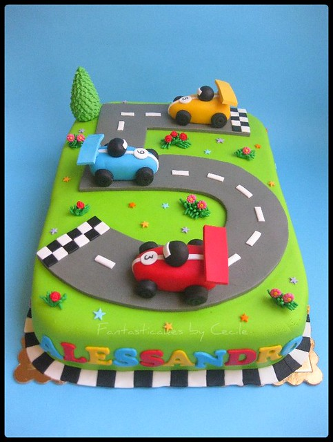 Images Of Cake Of Car : Torta Circuito Auto / Racing Circuit Cake Last month I ...