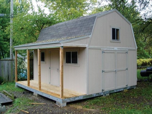 12x16 premier tall barn w porch options shown windows for Tuff sheds