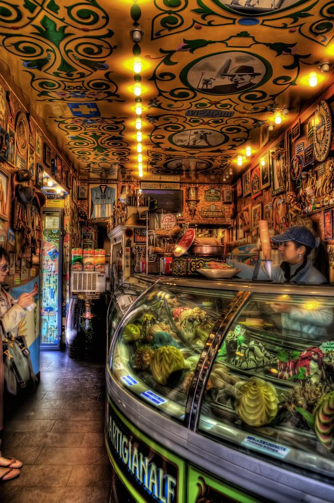 Gelato shop in Verona