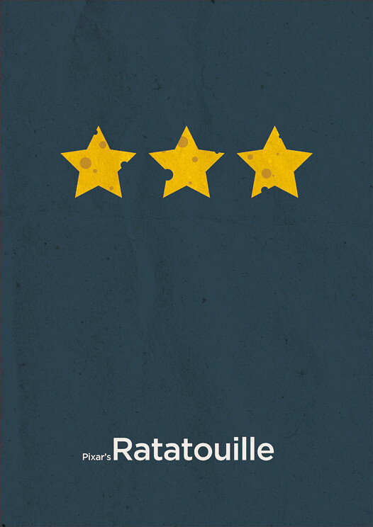 Pixar 39 s ratatouille minimalist poster based on pixar 39 s for L art minimaliste