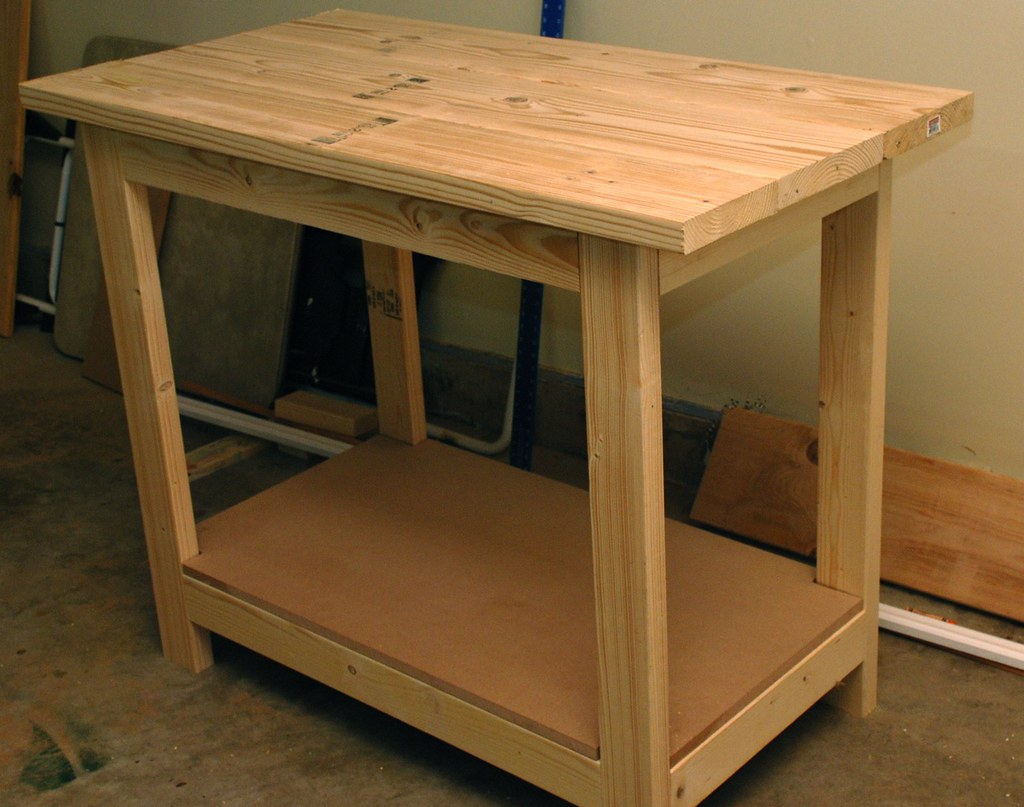 Solid Wood Top Work Bench Ran Out Of Mdf So I Used Two