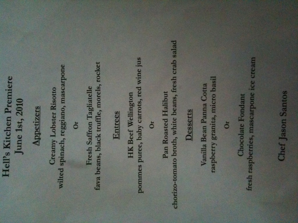 Hell\'s kitchen premier menu l | Posted via web from stuff on… | Flickr