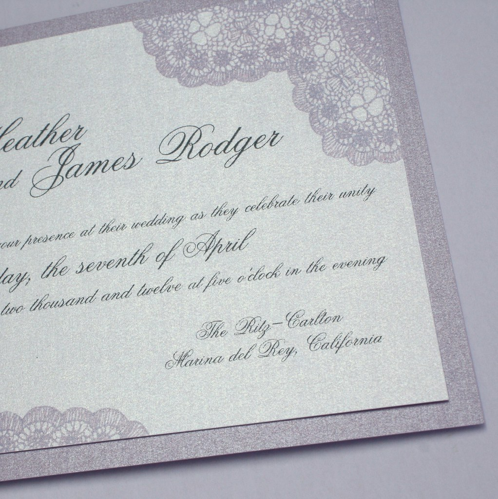 vintage lace wedding invitations lavender purple vintage antique lace wedding invitation 8288