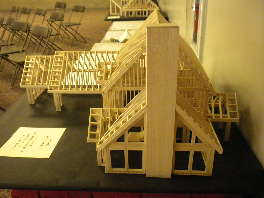 Balsa Wood Model House | Right side | firefighterstringer ...