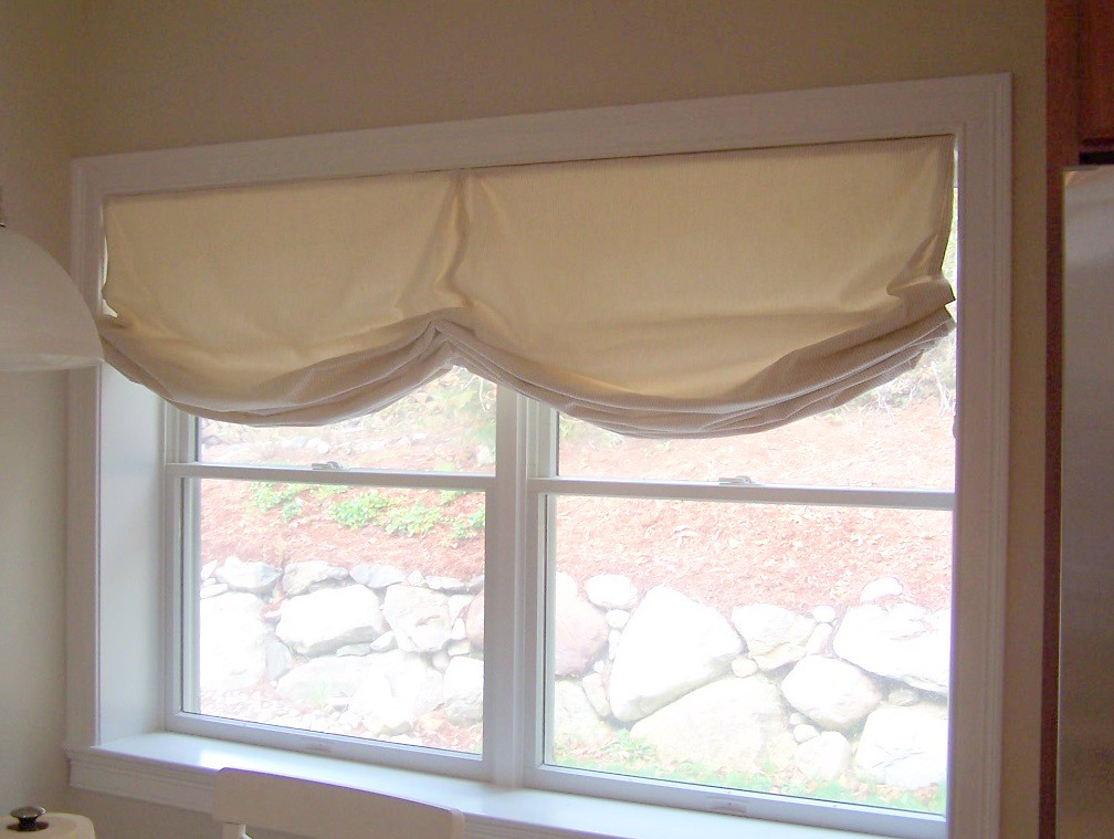 Double Roman Shade On Window : Double relaxed roman shade for