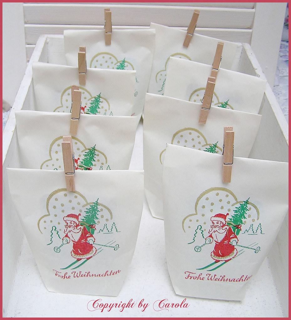 Vintage german christmas paper goodie bags i filled