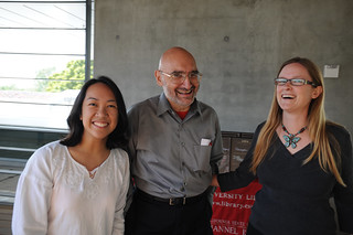 Former Dean of the Library, Paul Adalian, with librarians, Elnora Tayag and Kristen Labonte, at the Broome Library Student Book Collection Contest Award Ceremony | by California State University Channel Islands