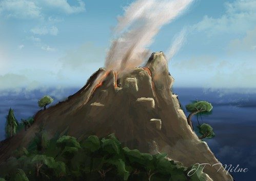 Volcano Photoshop Painting | by JTMilnednb