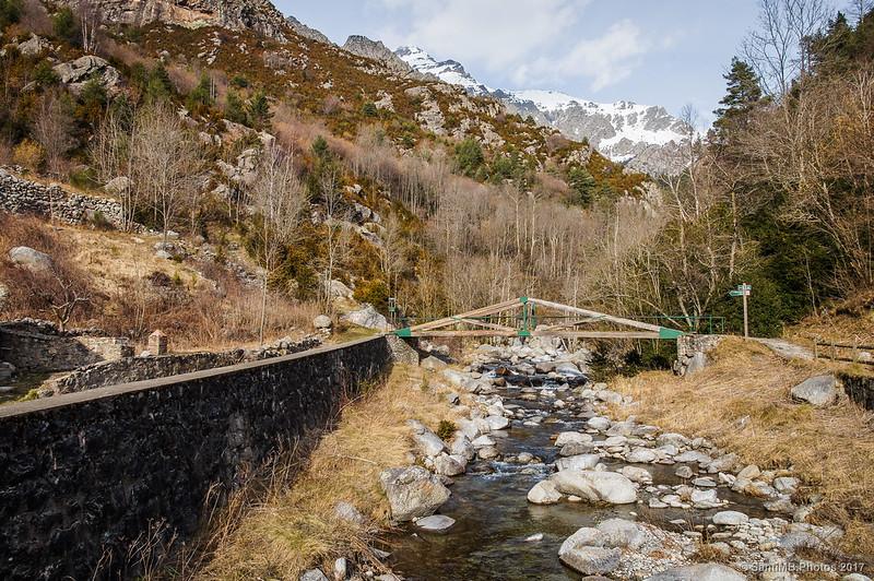 El río Freser desde la central de Daió de Baix
