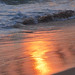 golden glow on the sand