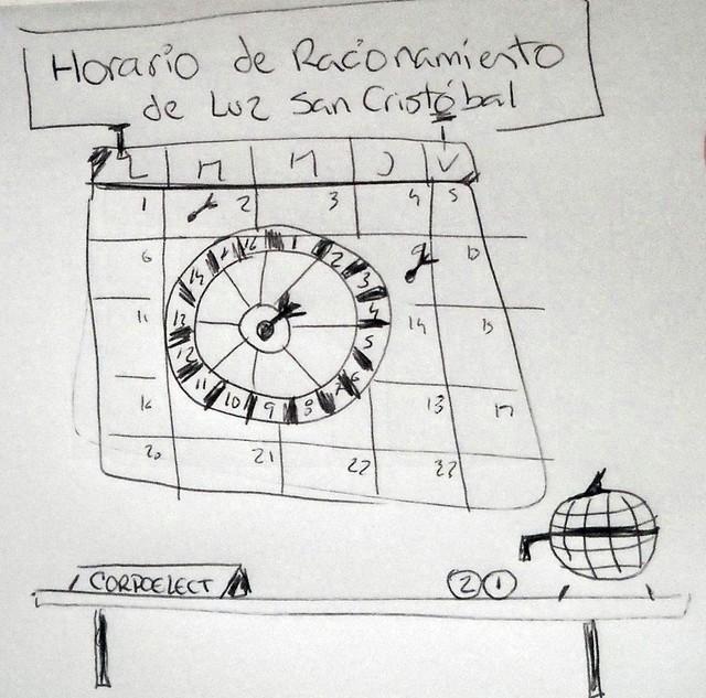Dibujo horario de racionamiento de luz en sc dada la for Racionamiento de luz en aragua