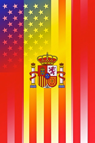 flag spain US both Vertical iPhone sized | Flags sized for ...