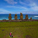 Tahai, Easter Island seen from a Pole