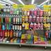 Bento supply display shelf in local Japanese supermarket
