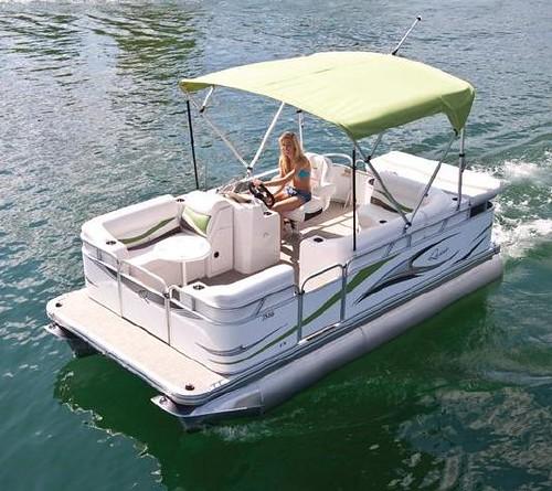 7516 C Small Electric Pontoon Boat 16 39 Small Pontoon