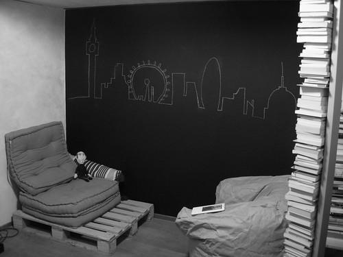 La Skyline di Londra  Sulla nuova parete/lavagna, ho ...